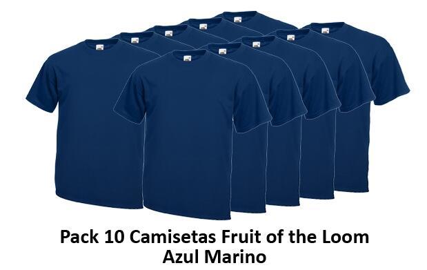 Pack 10 Camisetas Fruit of the Loom