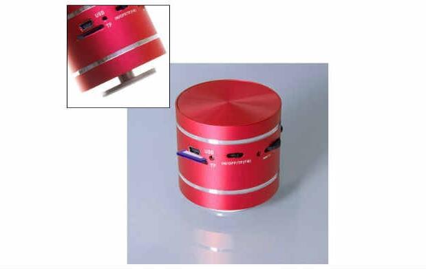 Altavoz metálico de colores