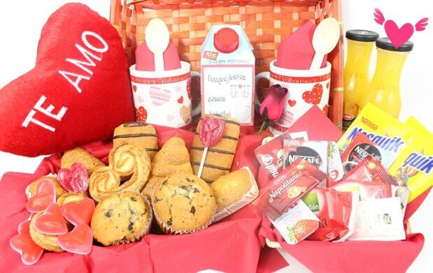 Desayuno a domicilio por San Valentín