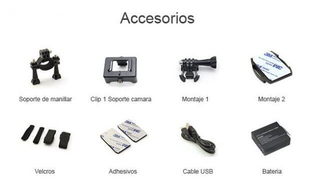 Cámara deportiva GoCam+accesorios