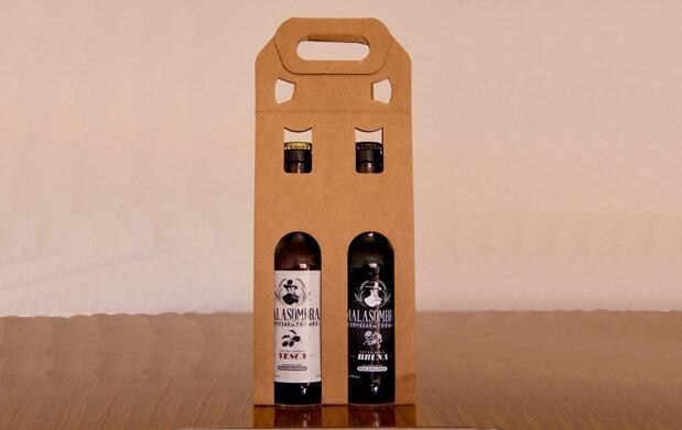 2 botellas de cerveza artesana Malasombra