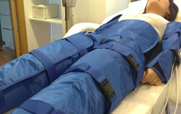Piernas ligeras con diez presoterapias