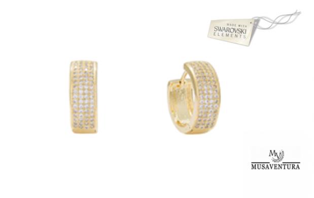 Pendientes chapados en oro con Cristales de Swarovski Elements