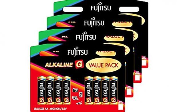 80 pilas alcalinas Fujitsu por 19 euros