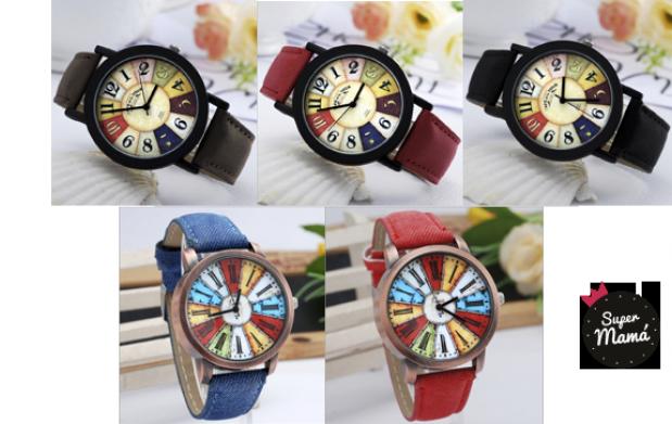 Reloj Vintage Colorfull o Pantone