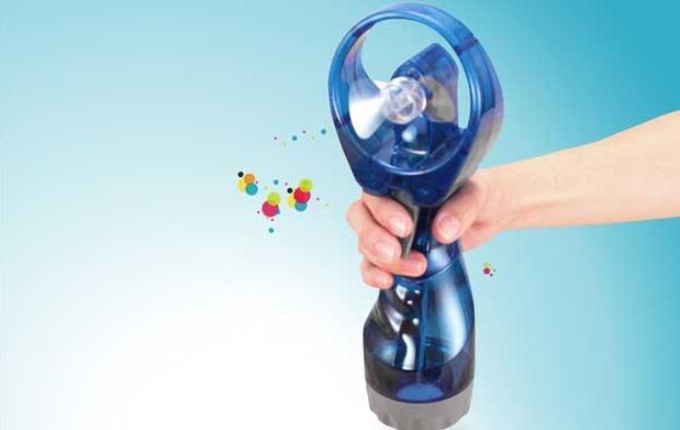 Ventilador con pulverización de agua