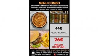 3 pizzas + 2 hamburguesas + 24 cervezas ¡¡por sólo 26 €!!