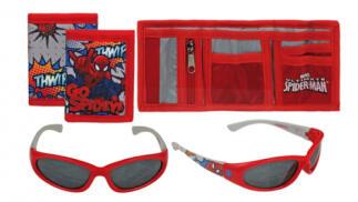 Set de verano pequeño de Frozen o Spiderman: monedero + gafas de sol