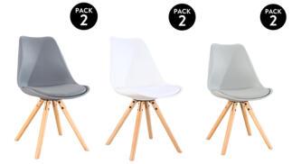 Pack 2 sillas Scandinavia en gris oscuro
