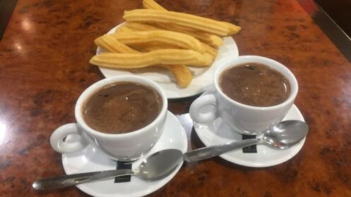 Chocolate con churros para dos