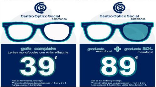 Gafas graduadas con opción de sol ¡desde 39 €!