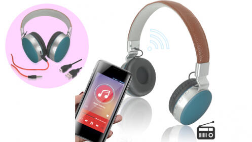 Auriculares Wireless con radio y SD Duet