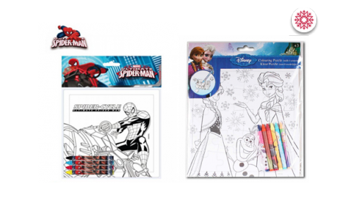 Puzzles Spiderman y Frozen + pinturas